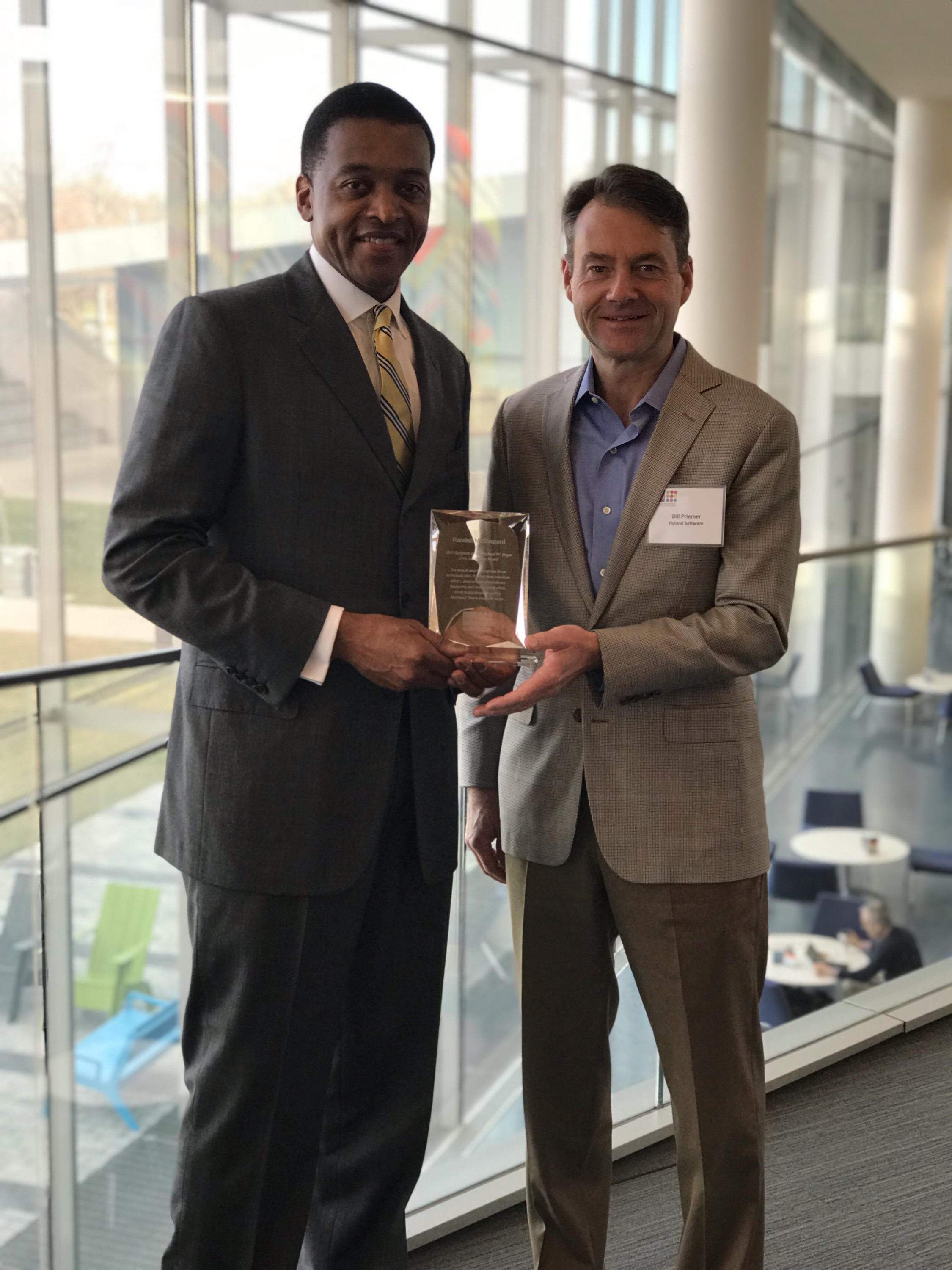 Randell McShepard Receives Richard W. Pogue Civic Leadership Award