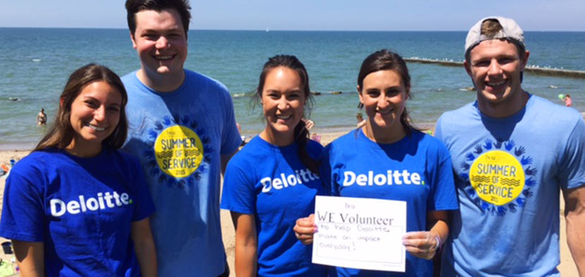 Summer of Service with Deloitte.